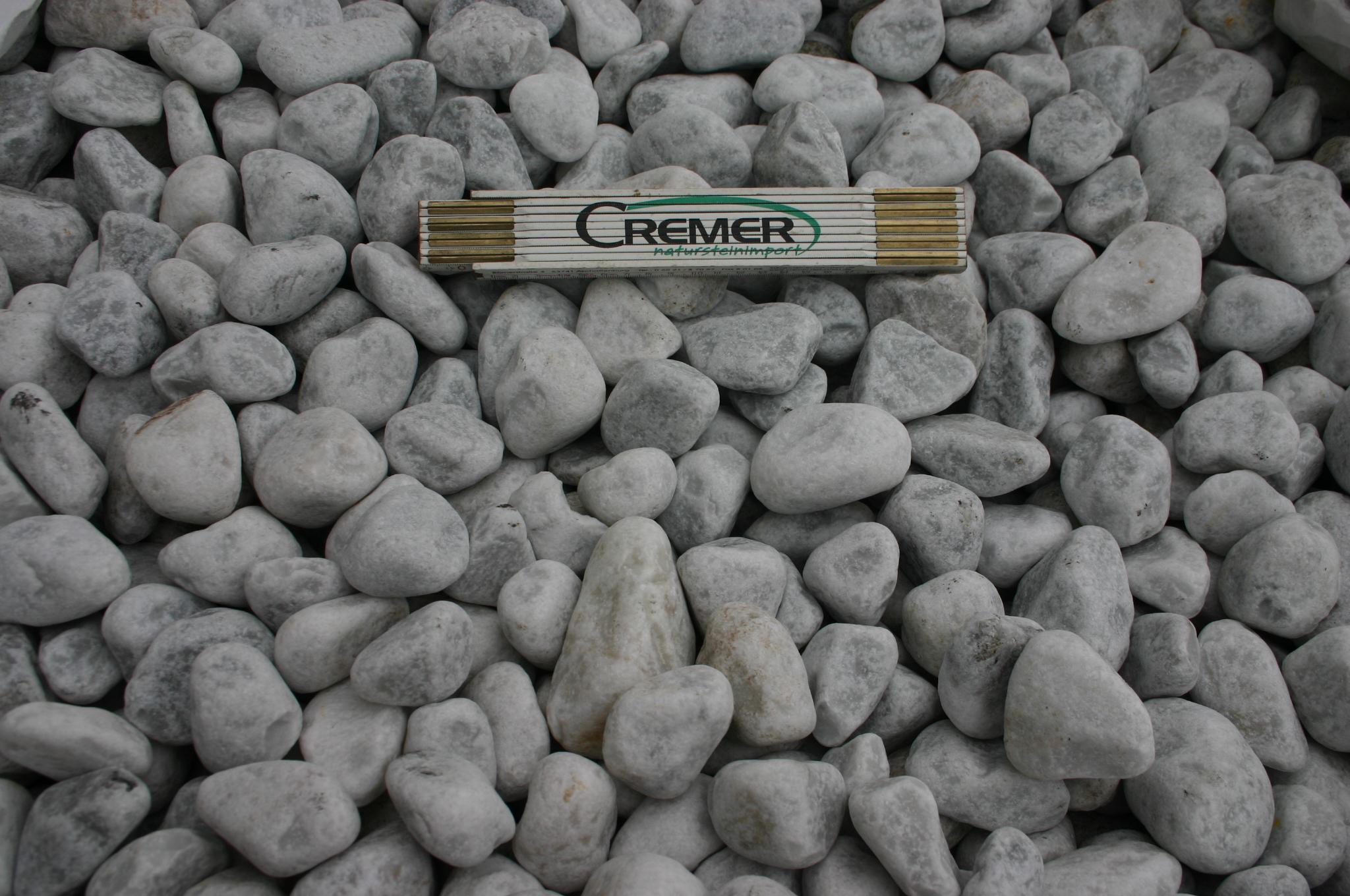 Marmor Carrara Weiss Kies Produkt Cremer Natursteinimport